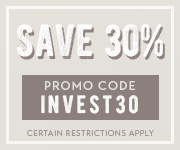 Save with promo code INVEST30
